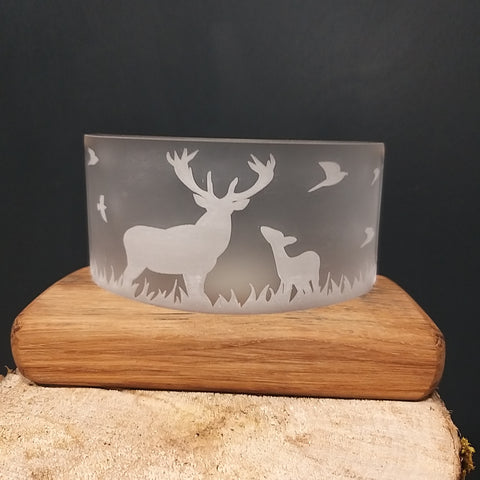Handcrafted Stag Single Tealight