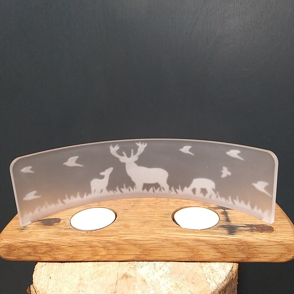 Scottish Whisky Barrel Double Tealight