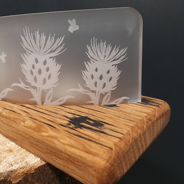 Scottish Whisky Barrel Thistle Tealights
