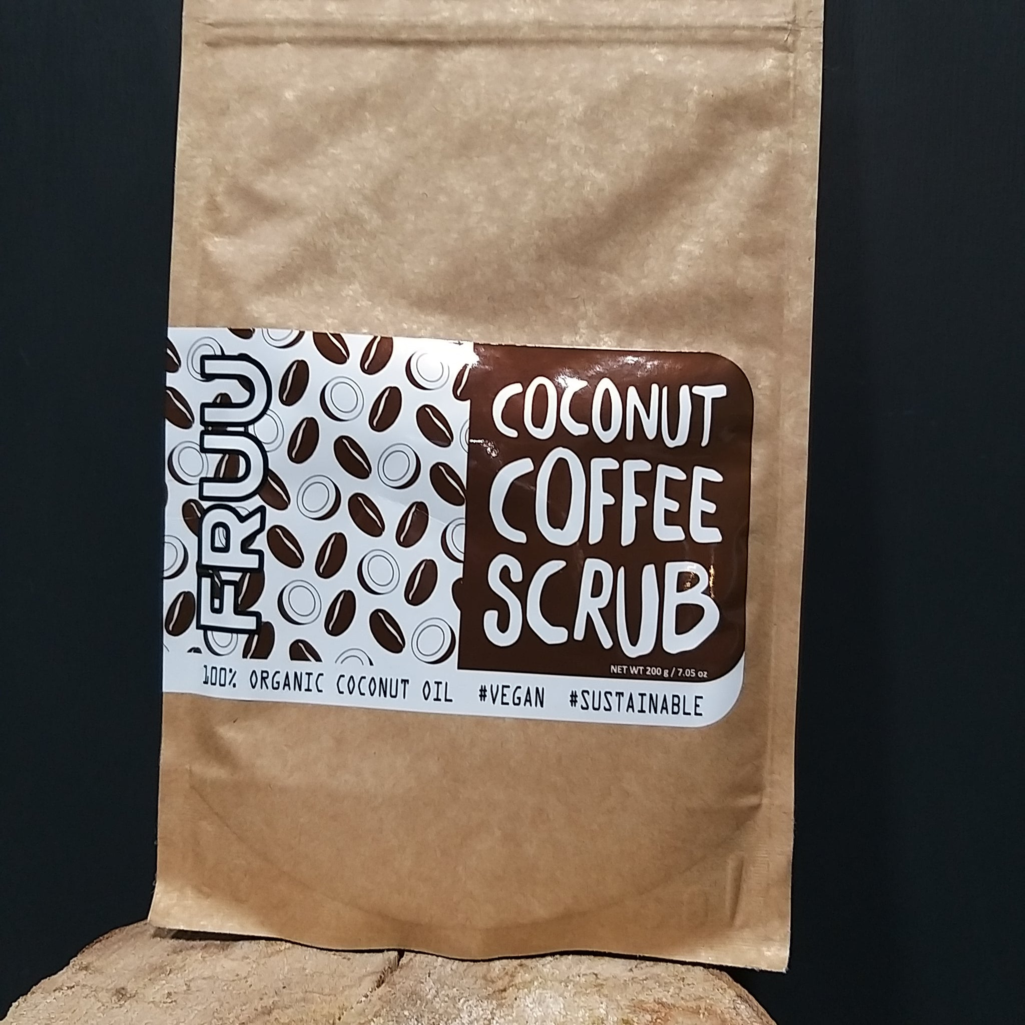Fruu Cosmetics Coconut Coffee Scrub