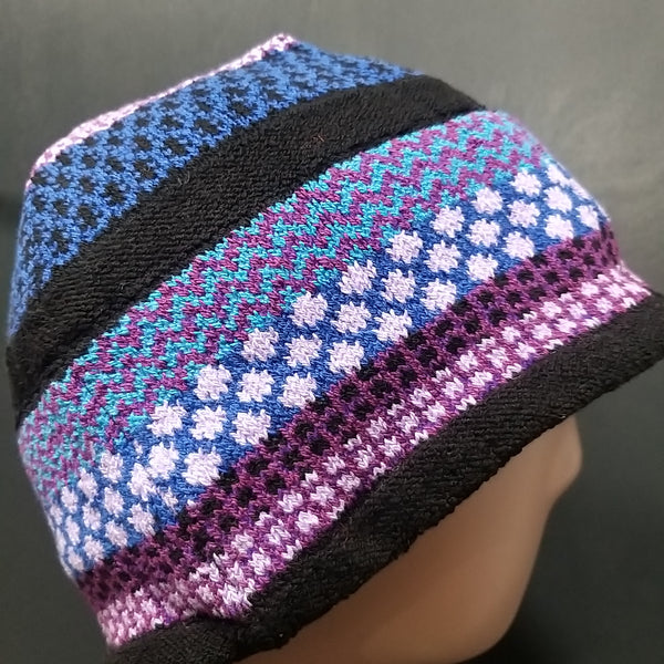 Soulmate Blue & Purple Fairisle Beanie