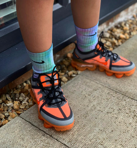 Nike kids custom colour socks- galaxy blast