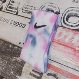Nike custom socks- grey and pink