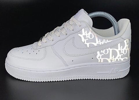 Nike AF1 custom - reflective side Dior