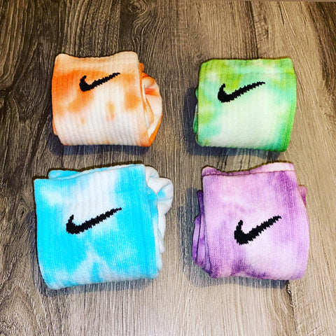Nike custom ombré sock set