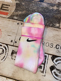 Custom bubbly dye Nike socks