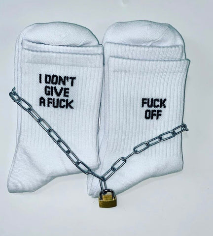 Fuck off/ don't give a fuck socks- combo
