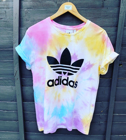 Adidas tie dye T-shirt- multi colour 🌈