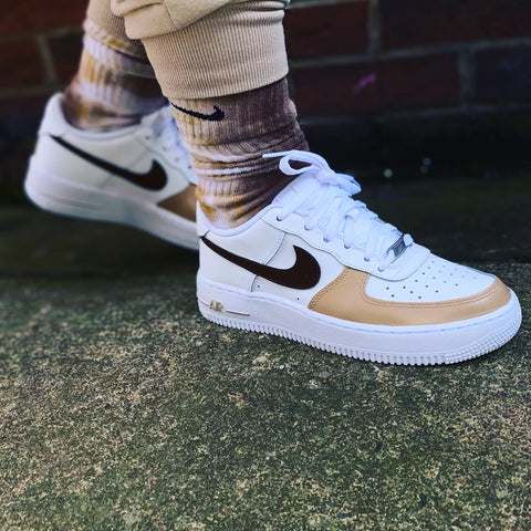 Nike AF1 custom - coffee set