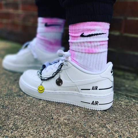 Nike custom  colour socks- Ombré pink