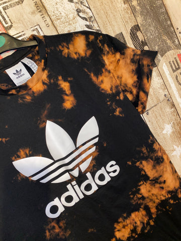 Adidas custom fade T-shirt- Black SALE