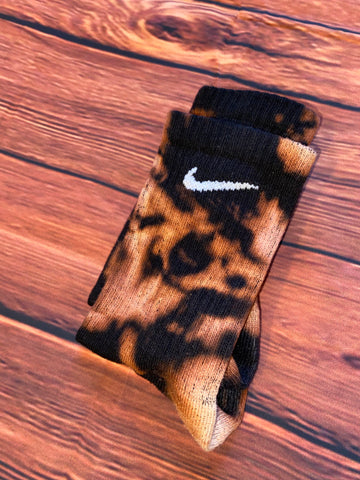 Nike custom black socks