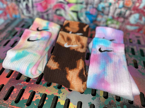 Custom Nike socks stay colourful set 🌈