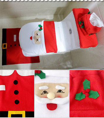 christmas toilet seat cover and rug bathroom sets saverdeal