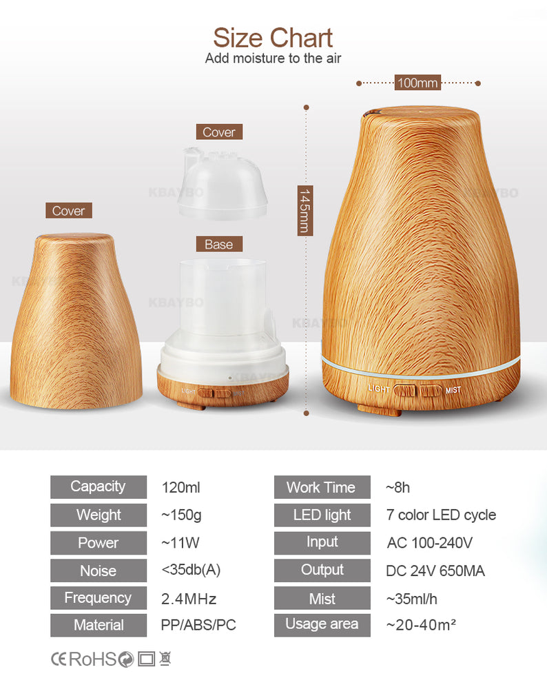 Wood Grain 7 Color Diffuser