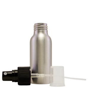 4 fl oz Aluminum Bottle w/ Black Spray Cap