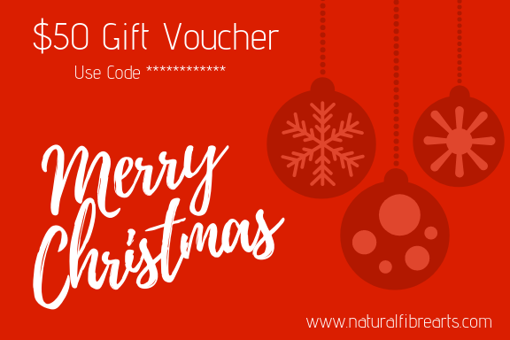$50 Christmas Gift Card - Natural Fibre Arts