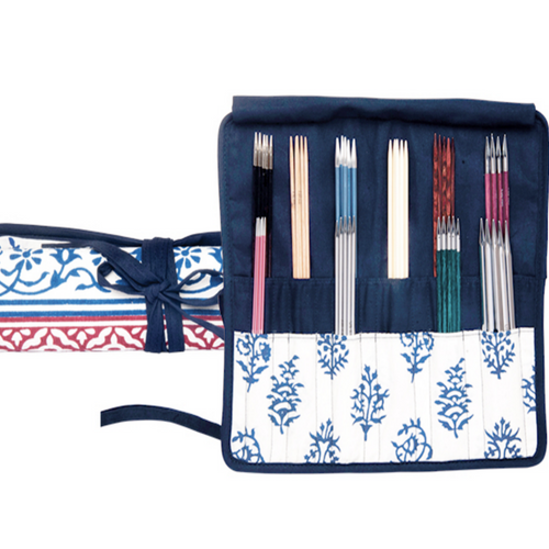 Knitpro DPN Case Navy - Natural Fibre Arts