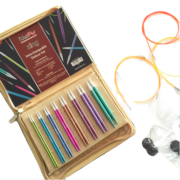 Knitpro Zing Interchangeable Needle Set - Natural Fibre Arts