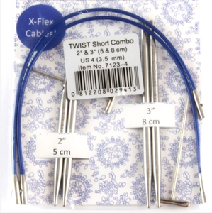 ChiaoGoo Twist Shorties Combo Pack Blue - Natural Fibre Arts