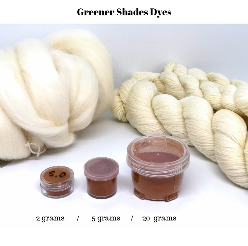 Greener Shades Dyes in Pots