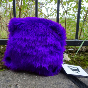 Faux fur project bag