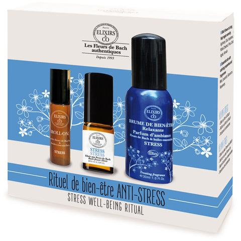 STRESS Well Being Ritual Set (spray 10ml + roll-on 10ml + brume 30ml)