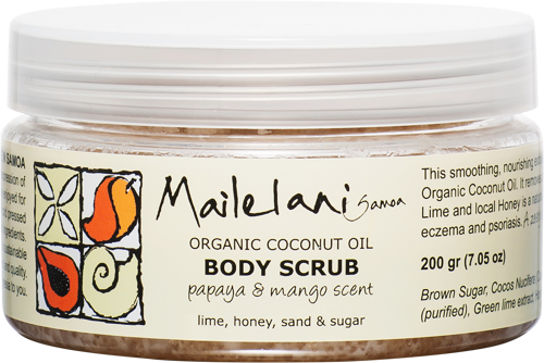 Body Scrub - Fresh Papaya & Mango (200ml) - Premium Pacific