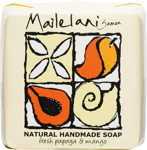 Handmade Soap - Fresh Papaya & Mango (110g) - Premium Pacific