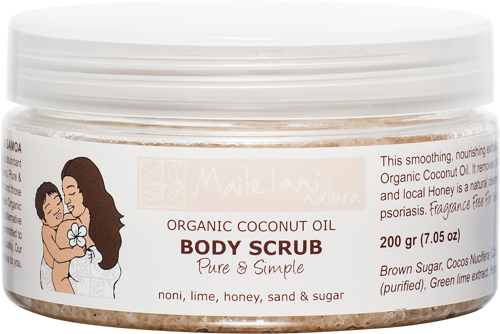 Body Scrub - 'Pure & Simple' Fragrance Free (200ml) - Premium Pacific