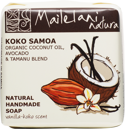 Handmade Soap - Vanilla and Koko Samoa (110g) - Premium Pacific