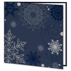 Navy Blue Textured Christmas Card