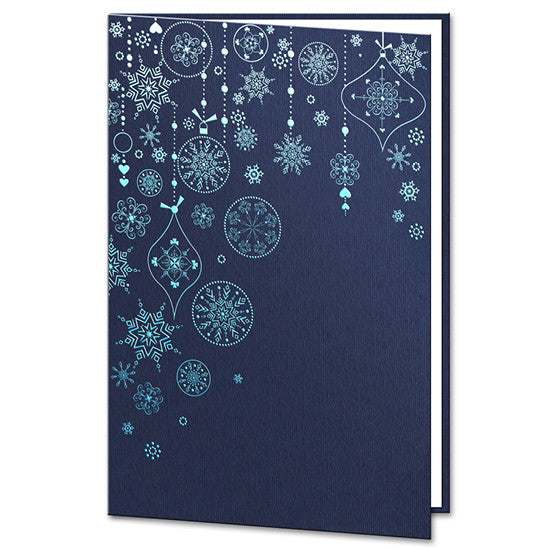 Christmas Decoration Navy Blue Card