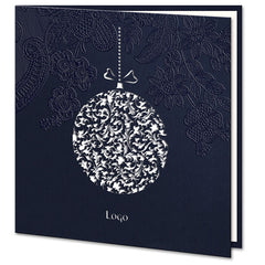 Laser Cut Navy Blue Bauble