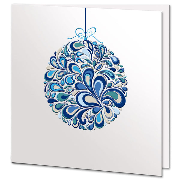 Colourful Bauble Christmas Card