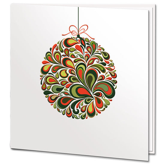 Colourful Bauble Card
