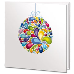 Embossed Rainbow Bauble