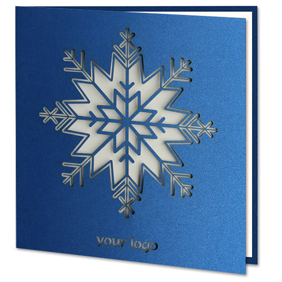 Navy Blue Snowflake