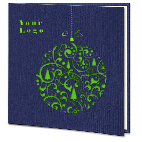 Navy Blue Green Bauble