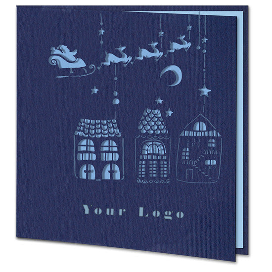 Laser Cut Christmas City Card