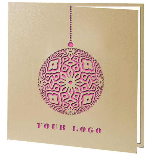 Pink Laser Cut Bauble