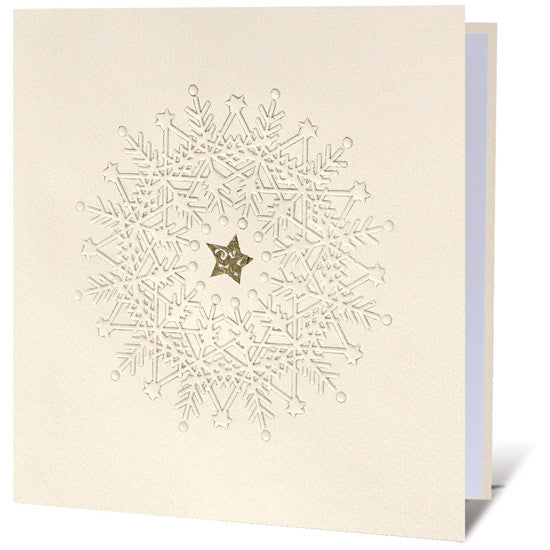 Embossed Snowflake Star