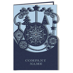 Navy Blue Laser Cut Card