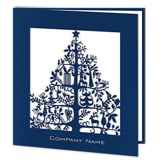 Navy Blue Laser Christmas Tree