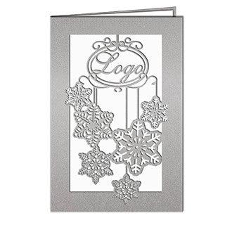 Silver Snowflakes Laser Card