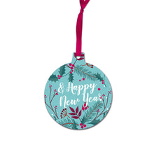 Blue Christmas Bauble Accessory with Ribbon