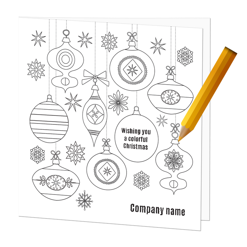 Empty Coloring Card Colorful