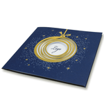 Navy Blue Laser Cut Bauble With Gold Foil