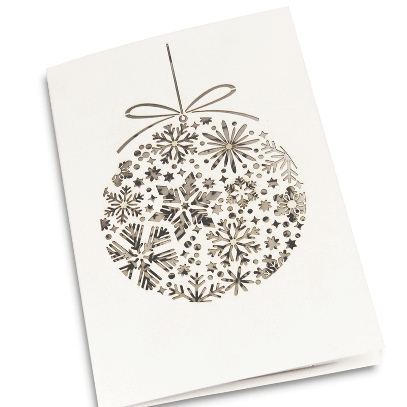 Laser Cut Mirror Bauble