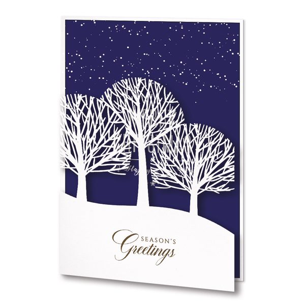 Laser Cut Christmas Card With Trees